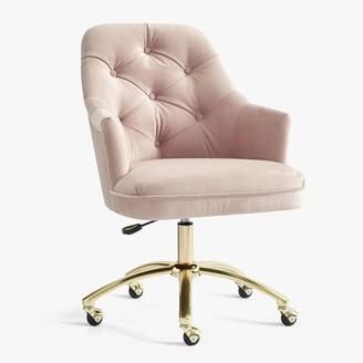 Pottery Barn Teen Velvet Tufted Swivel Desk Chair