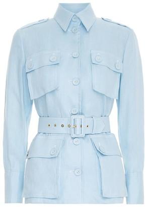 Zimmermann Glassy Utility Jacket in Powder Blue