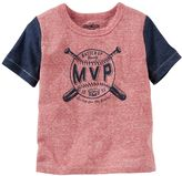 "Osh Kosh Boys 4-7x Colorblocked Baseball ""MVP"" Tee"