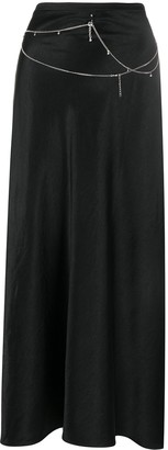 Collina Strada x Charlie Engman Yod chain trim maxi skirt