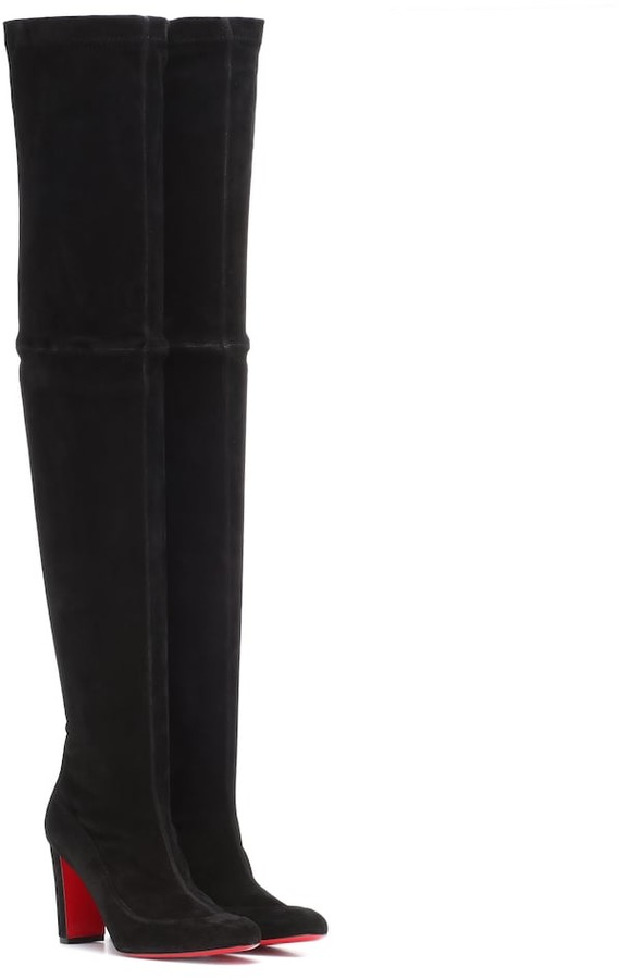 info for 7f6fa b7cc7 Kiss Me Gena 85 suede over-the-knee boots
