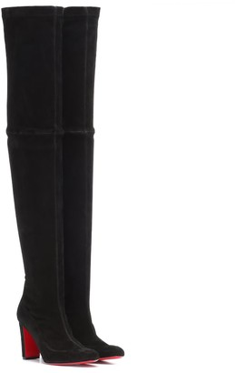 Christian Louboutin Kiss Me Gena 85 suede over-the-knee boots