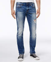 True Religion Men's Rocco No Flap Ripped Skinny-Fit Stretch Jeans