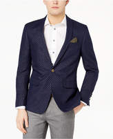 Tallia Orange Men's Modern-Fit Navy Metallic-Dot Dinner Jacket