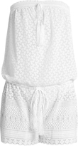 Melissa Odabash Everly embroidered georgette playsuit