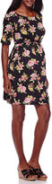 Asstd National Brand Maternity Elbow-Sleeve Belted Dress - Plus