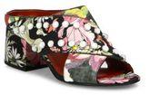 3.1 Phillip Lim Cube Studded Floral-Print Crisscross Block Heel Mules