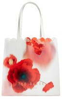 Ted Baker Playful Poppy Large Icon Tote - Red