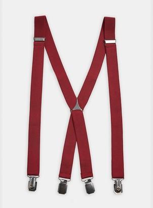 Topman Burgundy Skinny Braces