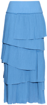 Sonia Rykiel Tiered pleated-cotton skirt