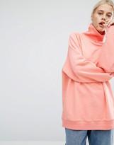 Monki High Neck Sweatshirt