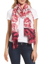 Nordstrom Women's Exotic Floral Print Cashmere & Silk Scarf