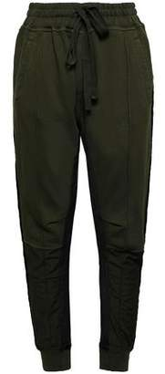 Haider Ackermann Grosgrain-trimmed Cotton-jersey Track Pants