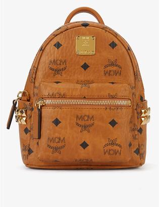 MCM Stark studded Visetos coated canvas mini backpack