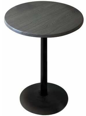 """Manufactured Wood Bar Table Holland Bar Stool Top Color: Charcoal, Table Top Size: 30"""" L x 30"""" W"""