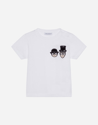 Dolce & Gabbana Jersey T-Shirt With Family Hat
