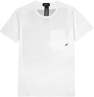 Stone Island Shadow Project Mako white cotton T-shirt