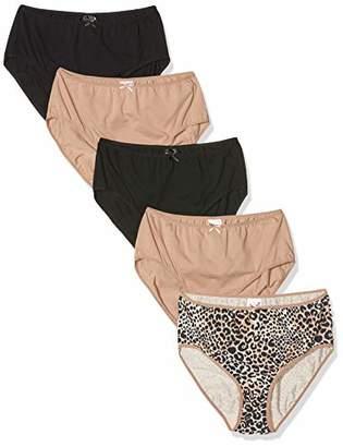 Ulla Popken Women's Slips. 5er-Pack Brief,(Size: 58+)