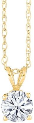 Affinity Diamond Jewelry Affinity 1/2 ct Round Diamond Pendant w/ Chain, 14K Gold