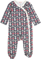 Baby Nay Black & Red Moose Friends Kimono Footie - Infant