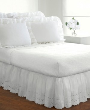 Levinsohn Textiles Fresh Ideas Ruffled Eyelet Queen Bed Skirt Bedding