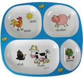 Baby Cie Divided Tray Farm Animals: Les Animaux de la Ferme Melamine Colorful dinnerware with wording