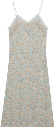 Gucci Liberty floral crepe slip dress