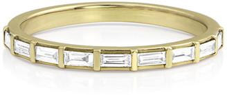 Dominique Cohen 14k Gold Baguette-Diamond Halfway Ring, Size 7