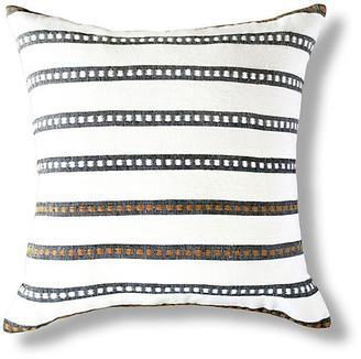Bole Road Textiles Kombolcha 20x20 Pillow - Onyx