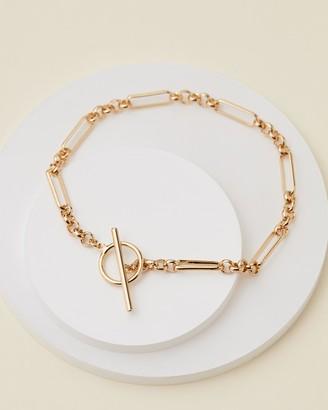 Orelia London Watch Link Chain T-Bar Bracelet