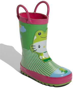Western Chief 'Hello Kitty® Froggy' Rain Boot (Walker, Toddler, Little Kid & Big Kid)