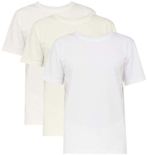 Maison Margiela Pack Of Three Cotton T Shirts - Mens - White