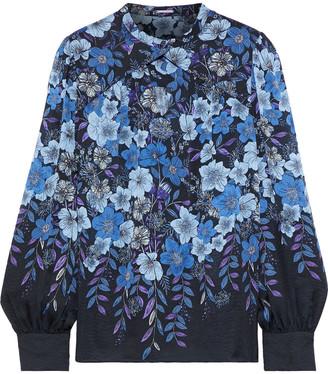 Elie Tahari Siobhan Floral-print Silk-chiffon Blouse