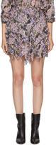 Etoile Isabel Marant Purple Jocky Miniskirt