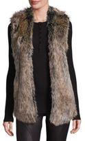 Splendid Faux Fur Open-Front Vest