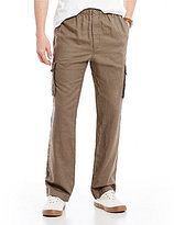 Roundtree & Yorke Linen/Cotton Blend Cargo Pants