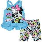 Original Penguin Blue Minnie Mouse Tank & Biker Shorts - Infant
