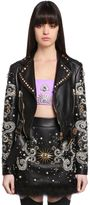Fausto Puglisi Embellished Leather Biker Jacket