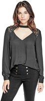 G by Guess Women's Elisa Keyhole Top