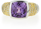 Lagos Embrace Medium Cushion-Cut Amethyst & Diamond Ring, Size 7