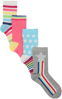 M&Co Star and stripe socks four pack