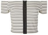 Topshop Hook & eye stripe crop top