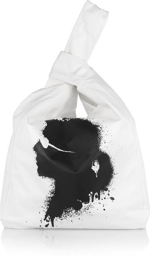 Karl Lagerfeld Large printed canvas tote