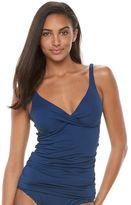 Apt. 9 Women's Striped Twist-Front Tankini Top