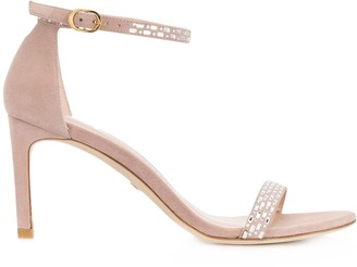 Stuart Weitzman Crystal Embellished Sandals