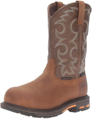 Ariat Women's Workhog H2O Composite Toe Work Boot 9.5 B - Medium Aged Bark/Army Green