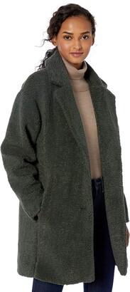 Daily Ritual Amazon Brand Women's Teddy Bear Fleece Oversized-Fit Lapel Coat