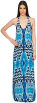 Caffe Swimwear - Halter Maxi Dress In Blue
