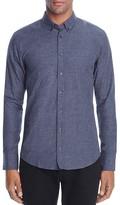 BOSS ORANGE Edipoe Slub Indigo Slim Fit Button Down Shirt