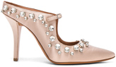Givenchy Feminine Satin Crystal Mule